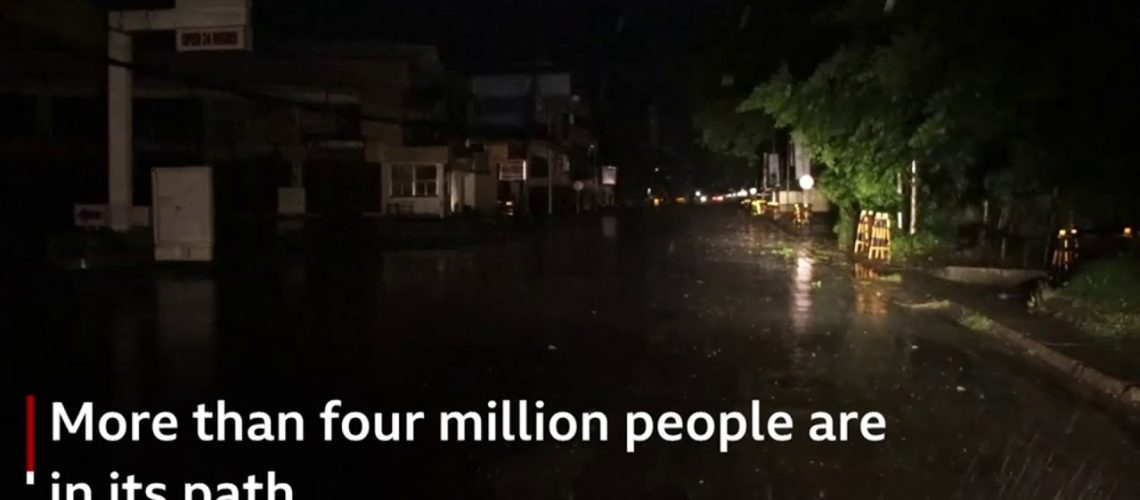 Typhoon Mangkhut: Philippines hit by strongest storm
