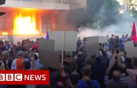 Petrol bombs thrown at Albania PM's office